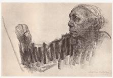 Kathe Kollowitz Drawing: http://3.bp.blogspot.com/-sKe3mO1RZT8/VCLVKgGrxcI/AAAAAAAAd74/SdWR1kvZlUo/s1600/kollwitz%2Bself-portrait%2Bat%2Bwork.jpg