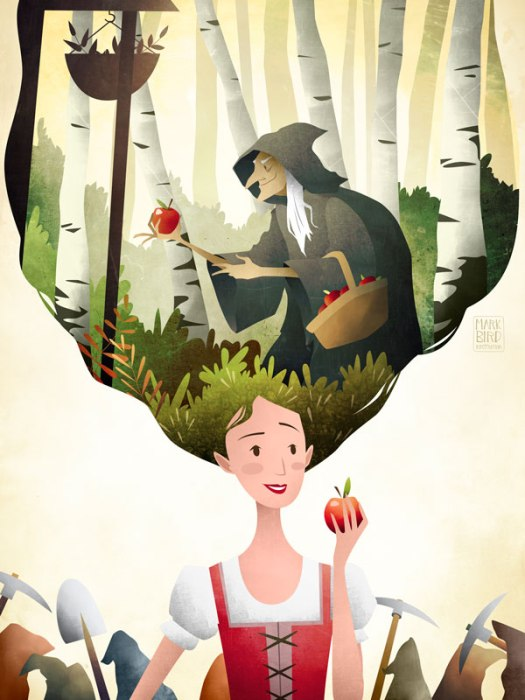 fairy-tale-princess-snow-white-mark-bird-illustration