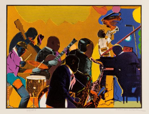 romare_bearden252c_out_chorus252c_1979-1980252c_etching252c_aquatint252c_serigraph252c_image_12-5_x_16_inches